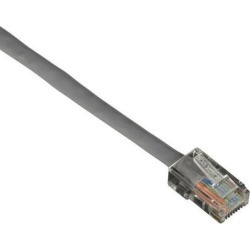 Black Box CAT6PC-B-002-GY Connect CAT6 250-MHz Stranded Ethernet Patch Cable - Unshielded, PVC, Basic Connector, Gray, 2-ft.