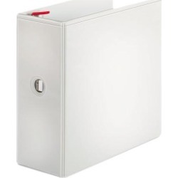 Treated Binder Clearvue Locking Slant-D Ring Binder, 5' Cap, 11 X 8 1/2, White