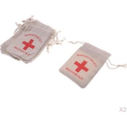 20x Hangover Kit Bags Bachelorette Party First Aid Bags Muslin Favors Bag