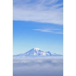 Posterazzi DPI1832141 Fog Mount Rainier Washington Cascades Washington United States of America Poster Print, 12 x 18