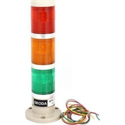 Unique Bargains AC/DC 24V Green Red Yellow Signal Tower Lamp Industrial Warning Stack Light