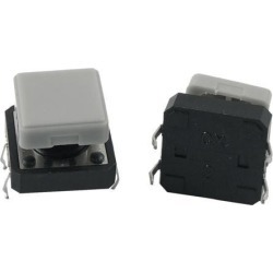 Unique Bargains 5x Momentary Tactile Push Button Switch 12x12x9mm 4 Pin DIP Through Hole w Cap