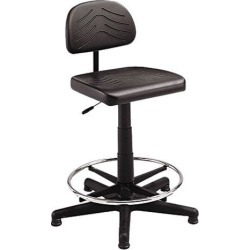Safco 5110 TaskMaster EconoMahogany WorkBench Chair, Black