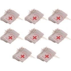 80x Hangover Kit Bags Bachelorette Party First Aid Bags Muslin Favors Bag