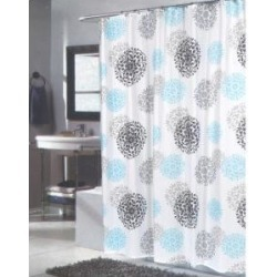 Carnation Home Fashions FSCXL-ISA Isabella Extra Long Shower Curtain - Multi