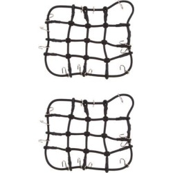 2pcs 1/8 1/10 Scale RC Luggage Net for RC Crawler Truck Car Roof Rack Black
