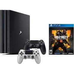 PlayStation 4 Call of Duty Black Ops IIII and 4K HDR PlayStation 4 Pro 1 TB Console with Extra Silver Dualshock 4 Wireless Controller (Split-Screen