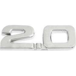 Unique Bargains Unique Bargains Silver Tone Alloy 2.0 Displacement 3D Adhesive Badge Sticker Decor for Car found on Bargain Bro India from Newegg Canada for $8.01