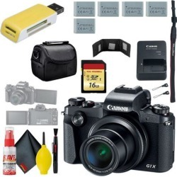 Canon PowerShot G1 X Mark III Digital Camera & 16GB MicroSD & Carrying Case & Battery x4