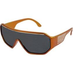 Orange Plastic Full Frame Sports Leisure Sunglasses for