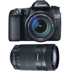 Canon 70d EOS 70D EFS 18-135mm IS STM Kit + Canon EF-S 55-250mm f/4-5.6 IS STM
