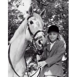 Posterazzi SAL2556073 Girl Holding the Reins of a Horse Poster Print - 18 x 24 in.