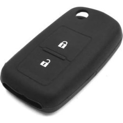 2 Button Rubber Car Remote Key Cover Case Shell Protective Black for Volkswagen