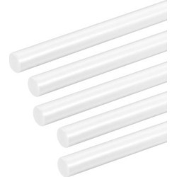 1/4×20 inch ABS Plastic Round Bar Rod for Architectural Model Making DIY White 5pcs