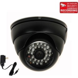 """VideoSecu Vandal Proof Outdoor Indoor Weatherproof IR Day Night Vision Built-in 1/3"""" Sony CCD Security Camera 480 TV Lines 3.6mm Wide Angle View with"""