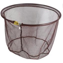 Unique Bargains 17.7 x 14 Nylon Portable Fishing Landing Net Fish Angler Mesh for Fishermen Crawfish Chocolate