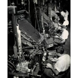 Posterazzi SAL2554299 High Angle View of a Group of Male Workers Operating Linotype Machines New York World Telegraph Poster Print - 18 x 24 in.