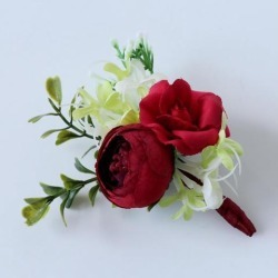 Wedding Corsage Wrist Flower Wedding Supplies Photo Props Corsage red