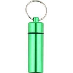 Aluminum Pill Box Case Bottle Cache Drug Holder Keychain Container Waterproof green