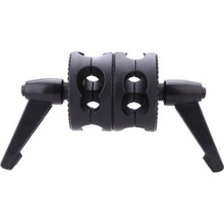 Photography Dual Swiveling Grip Head Angle Clamp for Photo Studio Boom Arm Reflector Holder Stand
