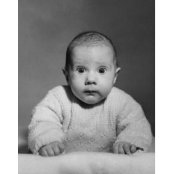 Posterazzi SAL2559362B Portrait of a Baby Looking Surprised Poster Print - 18 x 24 in.