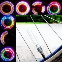 2 Pack of 5 LED Flash Wheel Tire Valve Stem Light Neon LED Lights Lamp