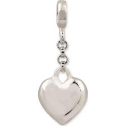 Sterling Silver Polished Heart 1/2in Dangle Enhancer
