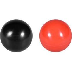 Thermoset Ball Knob M12 Female Thread Machine Handle 40mm Diameter Smooth Rim Red 5Pcs / Black 5Pcs