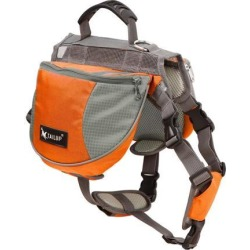 TAILUP Authorized Dog Pet Mesh Backpack Adjustable Carrier Saddle Bag for Outdoor Travel Hiking Camping Orange L found on Bargain Bro India from Newegg Canada for $30.33