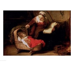Posterazzi BALBAL241256LARGE The Holy Family C.1645 Poster Print by Rembrandt Van Rijn - 36 x 24 in. - Large