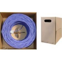 Cable Wholesale CAT5E UTP Bulk Cable Solid 350MHz 24 AWG - 1000 ft - Purple