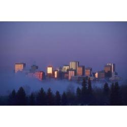 Posterazzi DPI1777193 City Skyline Edmonton Alberta Canada Poster Print by Bilderbuch, 17 x 11