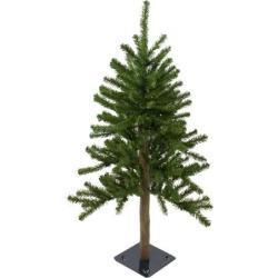 3' Pre-Lit Alpine Artificial Christmas Tree - Clear Lights