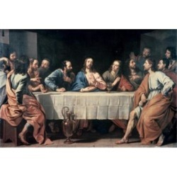 Posterazzi SAL9005564 The Last Supper Ca 1652 Philippe de Champaigne 1602-1674 French Oil on Canvas Musee Du Louvre Paris France Poster Print - 18.