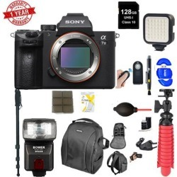 Sony Alpha a7 III Mirrorless Digital Camera (Body Only) w/ 128GB Memory Card Supreme Bundle