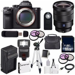 Sony Alpha a7R II Mirrorless Digital Camera (International Model ) + Sony Vario-Tessar T FE 16-35mm f/4 ZA OSS Lens + 49mm 3 Piece Filter Kit +.