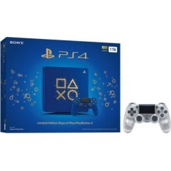 Playstation 4 Slim 1TB Days of Play Blue Limited Edition Gaming Console Bundle With an Extra Crystal DualShock 4 Wireless Controller