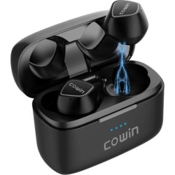 COWIN KY02 True Wireless Earbuds Wireless Bluetooth Headphones with Microphone Bluetooth Earbuds Stereo Calls Extra Bass Touch Control 35H Playtime.