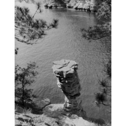 Posterazzi SAL255423967 USA Wisconsin Chimney Rock Formation Seen at Upper Dells Poster Print - 18 x 24 in.