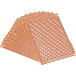 Unique Bargains 7x9cm Universal Single Sided Paper Printed Circuit Board FR-1 Brown 10pcs