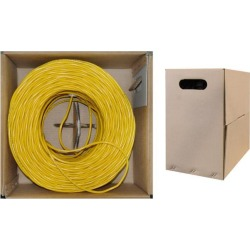 Offex Bulk Cat5e Ethernet Cable, Stranded, UTP (Unshielded Twisted Pair), Pullbox, 1000 foot - Yellow