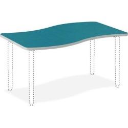 HON SW3054ENBA1K Build Table - Blue Agave Laminate, Thermofused Laminate (TFL) Ribbon Top