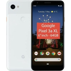 Google Pixel 3A XL (2019) G020B 64GB (6' inch, GSM, 4G/LTE, CDMA) Factory Unlocked Smartphone - Clearly White
