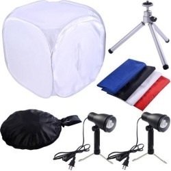 "24"" Photo Photography Softbox Kit Studio Shooting Tent Light Cube w/ Tripod"