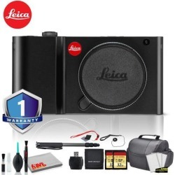 Leica TL Mirrorless Digital Camera (Black) Bundle with 2x32GB Memory Card +Battery + LCD Screen Protectors + Deluxe 70' Monopod + White Balance Cards
