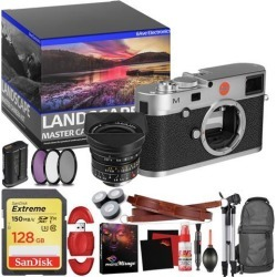 Leica M (Typ 240) Digital Rangefinder Camera (Silver) - Master Landscape Photographer Kit - Memory Card - Accessories with Leica 18mm f/3.8 Lens