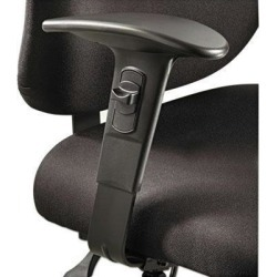 Safco Optional T-Pad Adjustable Arms for Safco Alday 24/7 Task Chair - SAF3399BL