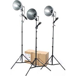 RPS Studio 3 Light Photoflood, Reflector & Stands Studio Kit (RS-4003)