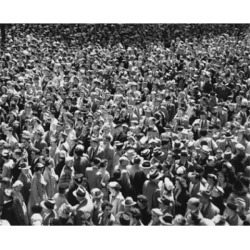 Posterazzi SAL2558368 High Angle View of a Crowd Poster Print - 18 x 24 in.