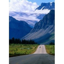 Posterazzi PDDCN02JMI0009 Road Into the Mountains of Banff National Park Alberta Canada Poster Print by Janis Miglavs - 19 x 27 in.